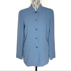 J. Crew cornflower blue long blazer medium size